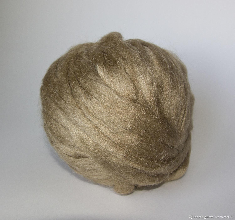 Волокна индийского шёлка Муга, натуральный коричневый, 10 гр, Волокна, Уфа,  Фото №1