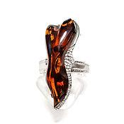 Украшения handmade. Livemaster - original item Ring with amber