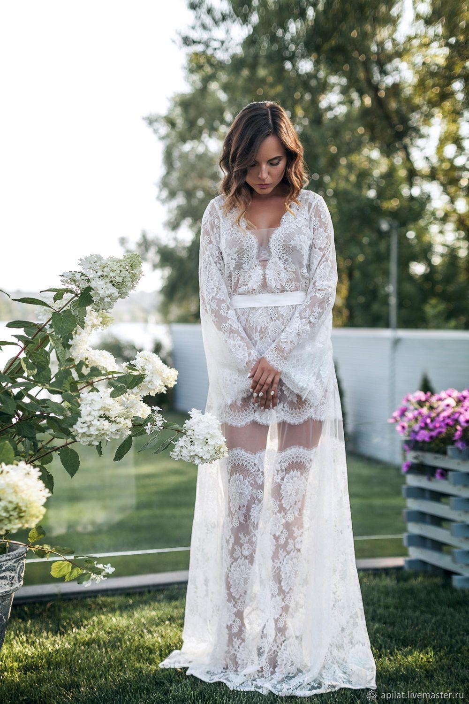 30ab2ded044 Underwear   Pajamas handmade. Livemaster - handmade. Buy Long Lace Bridal  Nightgown F18