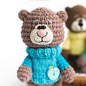 Куклы и игрушки ручной работы. Ярмарка Мастеров - ручная работа Медведик в голубом свитере. Handmade.
