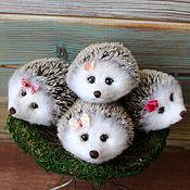 Куклы и игрушки handmade. Livemaster - original item Cute hedgehog babies. Handmade.