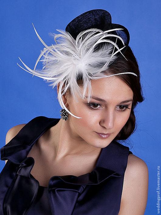Шляпы ручной работы. Ярмарка Мастеров - ручная работа. Купить Шляпка 1012. Handmade. Черный, вуалетка, свадьба, украшение, перья