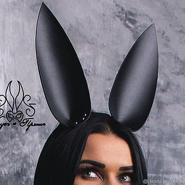 Аксессуары ручной работы. Ярмарка Мастеров - ручная работа Ушки кролика из кожи. Handmade.