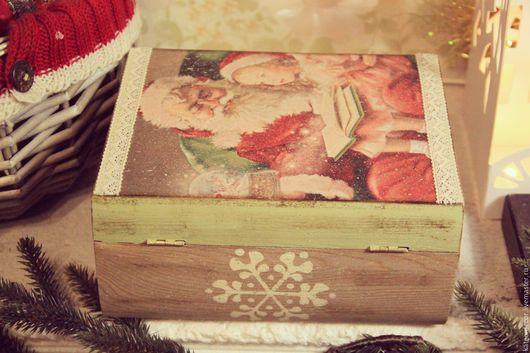 """Шкатулки ручной работы. Ярмарка Мастеров - ручная работа. Купить Книжка-шкатулка """"Сказки Дедушки Мороза"""". Handmade. Шкатулка"""