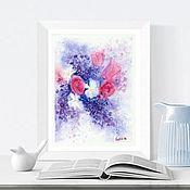 handmade. Livemaster - original item Watercolor Lilac bouquet. Handmade.