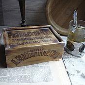 Для дома и интерьера ручной работы. Ярмарка Мастеров - ручная работа РЕЗЕРВ Короб из кедра для чая ,,Купеческий,,. Handmade.