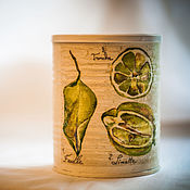 Для дома и интерьера handmade. Livemaster - original item Jar decoupage Lemon and lime. Handmade.