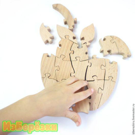Развивающие игрушки ручной работы. Ярмарка Мастеров - ручная работа. Купить Яблоко. Объемный пазл.. Handmade. Яблоко, развивающая игрушка