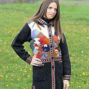 Одежда ручной работы. Ярмарка Мастеров - ручная работа Пальто вязаное 14WJ02. Handmade.