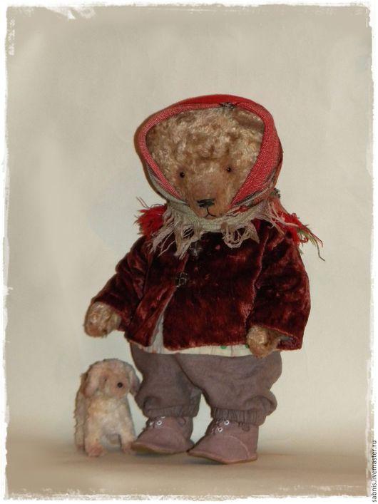 Мишки Тедди ручной работы. Ярмарка Мастеров - ручная работа. Купить На прогулку. Handmade. Комбинированный, мишка девочка