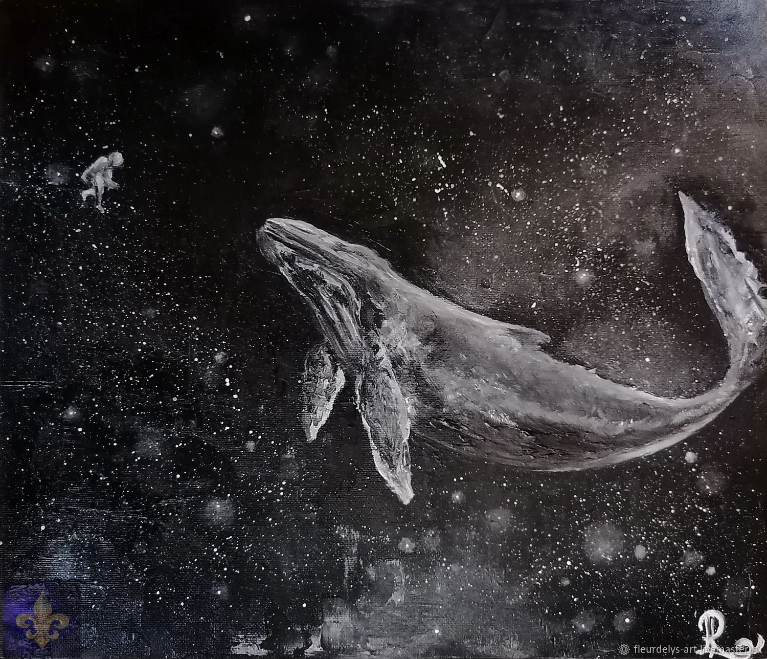The song of the whale. Oil painting 30/35, Pictures, Armavir,  Фото №1