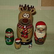 Для дома и интерьера handmade. Livemaster - original item Matryoshka Christmas team. Handmade.
