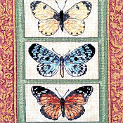 """Картины и панно handmade. Livemaster - original item """"Butterflies"""" Embroidered picture. Handmade."""