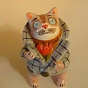 Для дома и интерьера handmade. Livemaster - original item Ceramic cat.