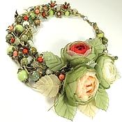 Украшения handmade. Livemaster - original item Valley Of The Forest Rose. Necklaces, three brooches flower. Handmade.