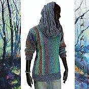 Одежда ручной работы. Ярмарка Мастеров - ручная работа Свитер (имитация тканого полотна). Handmade.