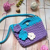 Сумки ручной работы. Ярмарка Мастеров - ручная работа Детская сумочка из трикотажной пряжи. Handmade.