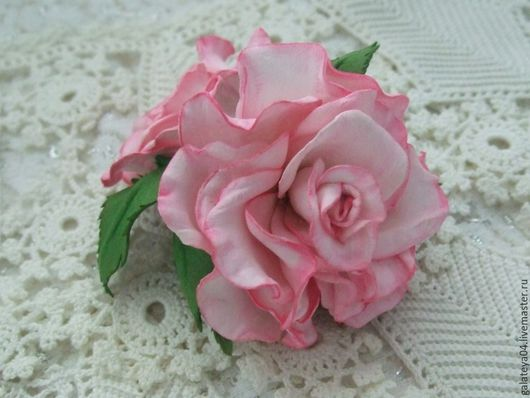 """Броши ручной работы. Ярмарка Мастеров - ручная работа. Купить Брошь-роза из  фоамирана  """"Нежность  моя"""". Handmade. Розовый"""