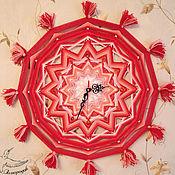 Для дома и интерьера handmade. Livemaster - original item Wall clock in bright living mandala