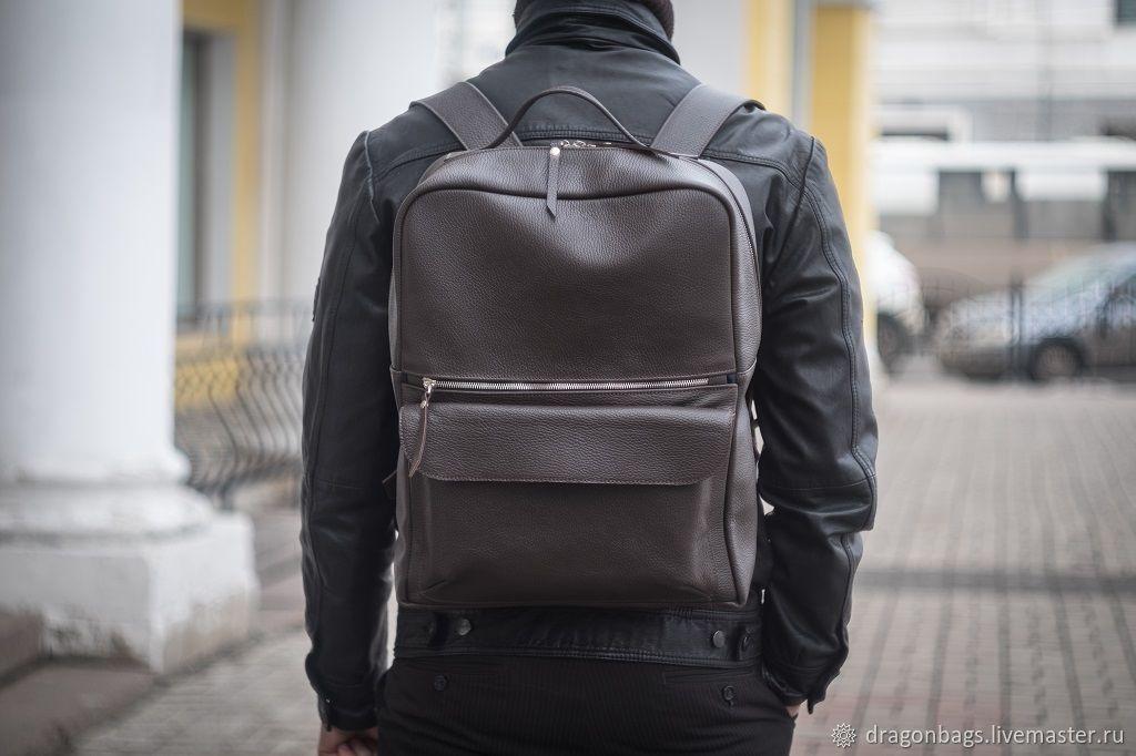 """Кожаный рюкзак мужской """"Сopper"""" (Коричневый), Рюкзаки, Ярославль,  Фото №1"""