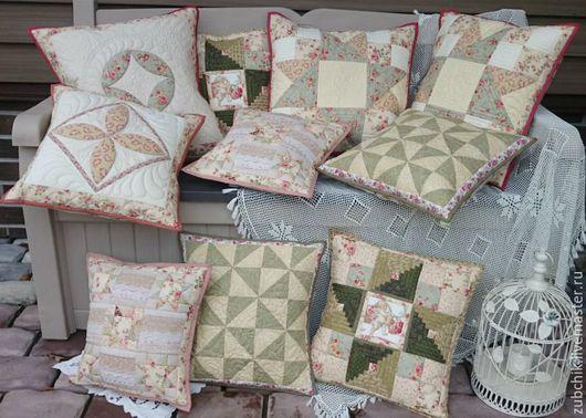 Текстиль, ковры ручной работы. Ярмарка Мастеров - ручная работа. Купить Коллекция лоскутных подушек Когда уходит лето комплект. Handmade.