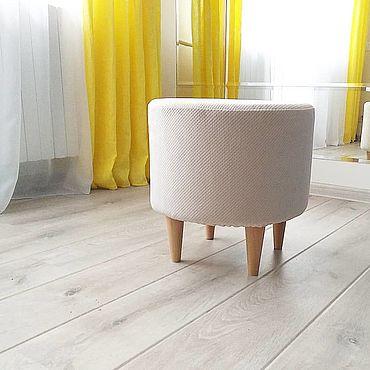 Мебель ручной работы. Ярмарка Мастеров - ручная работа Стулья: пуф на ножках. Handmade.