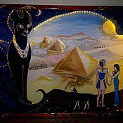 """Картины и панно ручной работы. Ярмарка Мастеров - ручная работа Панно с подсветкой """"Египет"""". Handmade."""