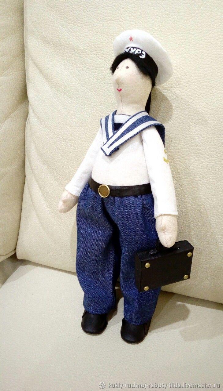 Курсант первокурсник с чемоданчиком, Куклы Тильда, Уфа,  Фото №1