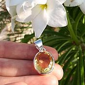 Украшения handmade. Livemaster - original item AMATERASU - pendant in sterling silver with a bright Golden citrine. Handmade.