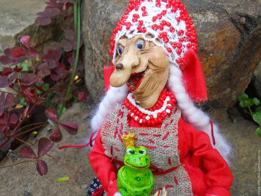 Сказочные персонажи ручной работы. Ярмарка Мастеров - ручная работа. Купить Счастье привалило!(Баба Яга). Handmade. Комбинированный, оберег для дома
