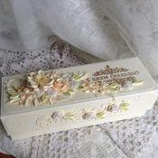 Свадебный салон ручной работы. Ярмарка Мастеров - ручная работа Свадебная открытка - поздравительный свиток в коробочке.. Handmade.