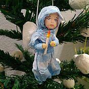 Куклы и игрушки ручной работы. Ярмарка Мастеров - ручная работа Ватная ёлочная игрушка . Ангел рождественский. Handmade.