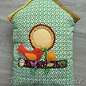 Для дома и интерьера handmade. Livemaster - original item Pillow toy Spring birdhouse. Handmade.