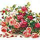 Королевские розы. Р-р: 38*28см-540руб