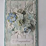 Открытки handmade. Livemaster - original item greeting card for Christmas. Handmade.
