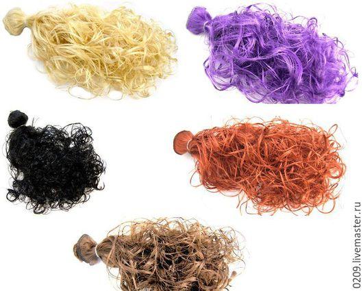 Куклы и игрушки ручной работы. Ярмарка Мастеров - ручная работа. Купить трессы кудри медь, фиолетовый,  каштан, черный, блонд. Handmade.