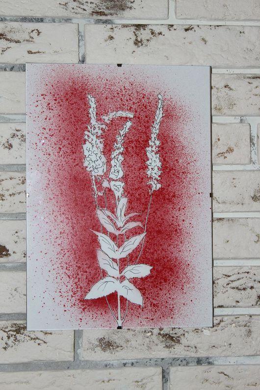 Картины цветов ручной работы. Ярмарка Мастеров - ручная работа. Купить Ботанический силуэтный рисунок. Handmade. Комбинированный, силуэт