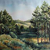 """Картины и панно ручной работы. Ярмарка Мастеров - ручная работа Картина """"Зеленая долина"""". Handmade."""