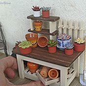 Куклы и игрушки handmade. Livemaster - original item Floral counter for Dollhouse miniatures Accessories Dollhouse. Handmade.