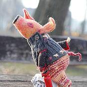 Чердачная кукла ручной работы. Ярмарка Мастеров - ручная работа Хрюн - пожарник. Handmade.