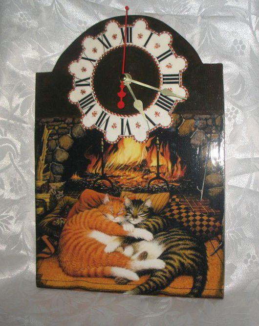 """Часы для дома ручной работы. Ярмарка Мастеров - ручная работа. Купить Часы """"Тихий час"""". Handmade. Часы"""