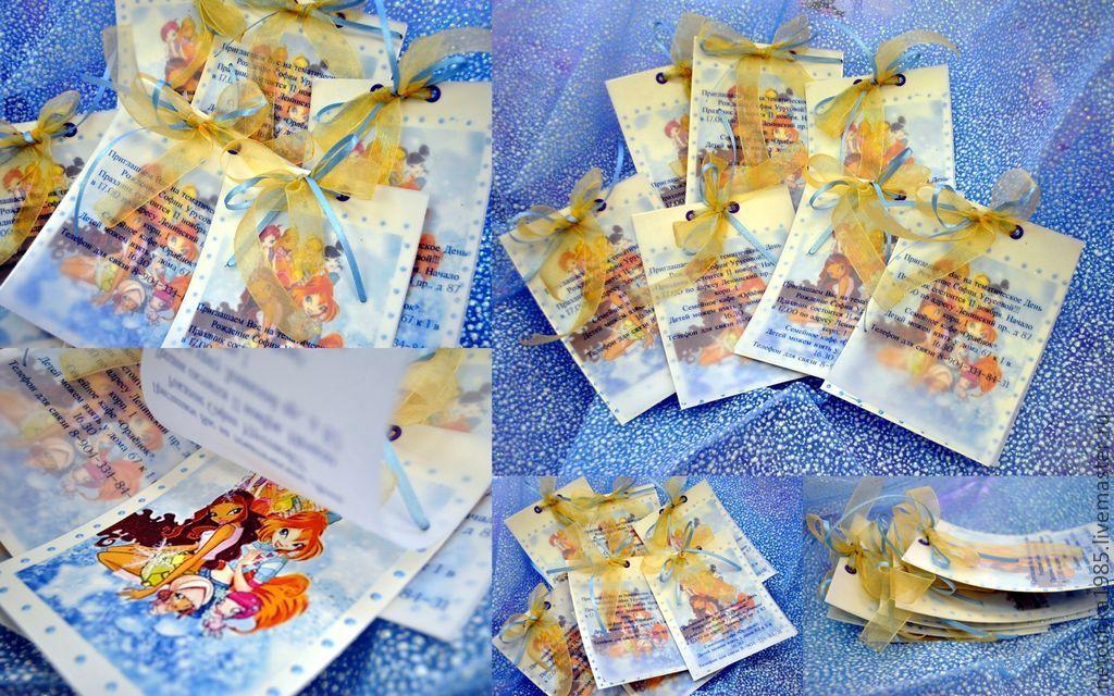 Приглашения на Детский День Рождения, Пригласительные, Санкт-Петербург,  Фото №1