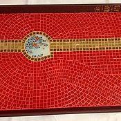 Для дома и интерьера ручной работы. Ярмарка Мастеров - ручная работа Поднос с мозаикой. Handmade.