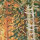 """Пейзаж ручной работы. Картина вышитая живописной гладью """"Солнечный день"""". Галич Валентина  Живописная гладь. Ярмарка Мастеров."""