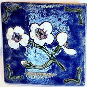 Дизайн и реклама handmade. Livemaster - original item Ceramic tile Orchid. Handmade.