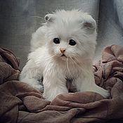 Куклы и игрушки handmade. Livemaster - original item Teddy Animals: little white kitten. Handmade.