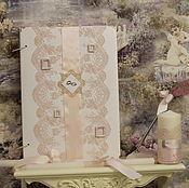 """Свадебный салон ручной работы. Ярмарка Мастеров - ручная работа """"Розовый лепесток""""-Книга для пожеланий.. Handmade."""