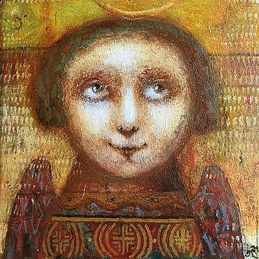 """Картины и панно ручной работы. Ярмарка Мастеров - ручная работа """"Ангел"""", авторская печать.. Handmade."""