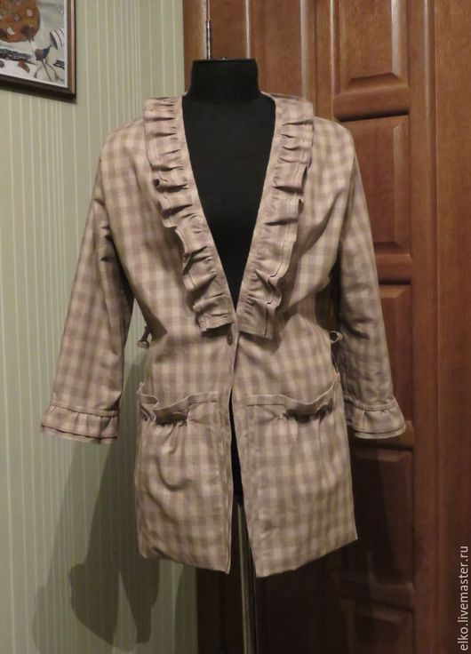Пиджаки, жакеты ручной работы. Ярмарка Мастеров - ручная работа. Купить Жакет Бохо 3. Handmade. Бежевый, бохо, летний