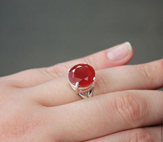 """Кольца ручной работы. Ярмарка Мастеров - ручная работа. Купить Кольцо """"Рыжая луна"""" сердолик в серебре. Handmade. Натуральные камни"""